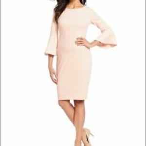 Blush pink Calvin Klein dress